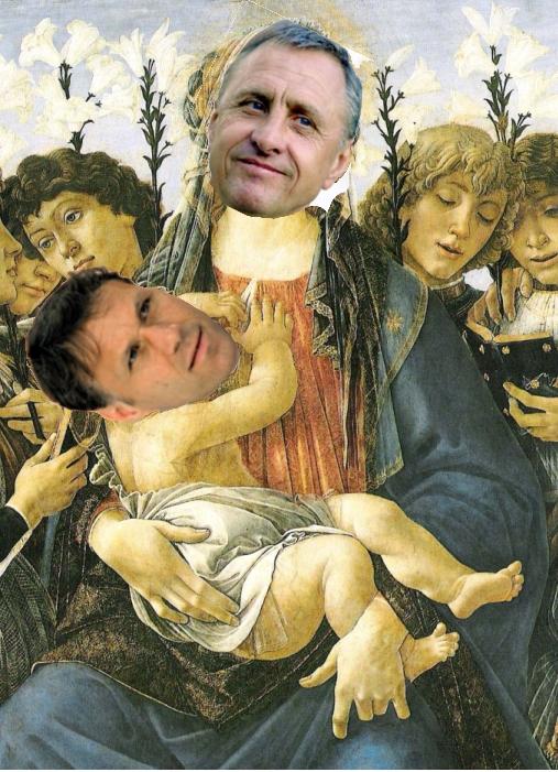 Twee heiligen (Johan Cruijff/Marco van Basten)